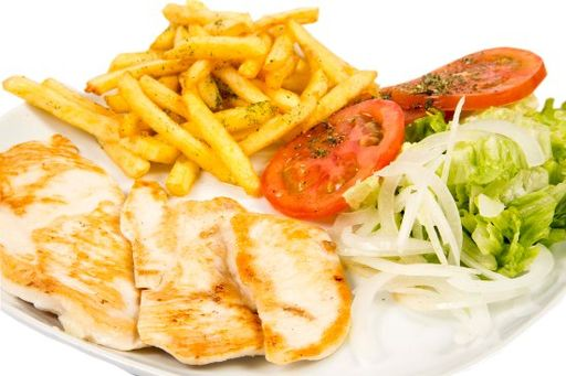 Grilled chicken with accompaniment*