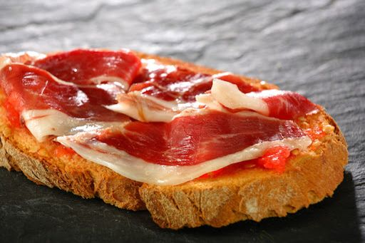 Pan con tomate y jamón ibérico